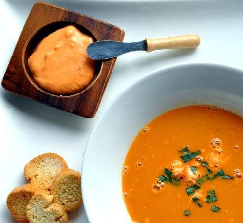 sauce rouille et soupe de homard