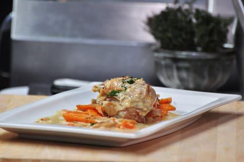 lapin sauce moutarde et carottes