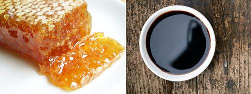 sauce au miel : miel et vinaigre balsamique