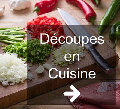 découpes en cuisine
