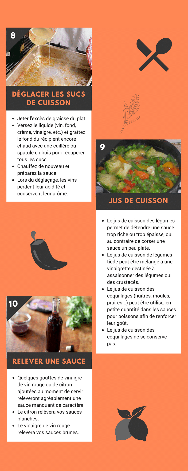 nfographie : 10 trucs et astuces pour réussir vos sauces préférées !